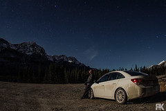 Star Gazing (ryan.kole32) Tags: canmore canmorealberta alberta canada canadianrockies rockies rockymountains kananaskis kananaskiscountry landscape nature beauty beautyinnature travel outdoors longexposure nightscape nightphotography stars trees forest spraylakes sony sonya77 teamsony chevy chevrolet chevycruze chevroletcruze vehicle transportation selfportrait portrait peaceful calm still tranquil