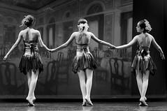And Then There Were Three (lothar1908) Tags: ballerine live bw biancoenero stage palcoscenico teatro performance esibizione canoneos5dmarkiii ef70200mmf28lisiiusm milano interni spettacolo tre 3 three dancers costumi braccia