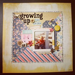 Growing Up at the Arena (girl231t) Tags: 2015 scrapbook paper layout 12x12layout 6x6paperpadlove scraplifted