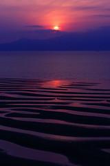 sunset with ripple marks (Kodakdak) Tags: ripplemarks sea sunset sun nature kumamoto japan 御輿来海岸 熊本 日本 夕焼け 海 夕暮れ 日没 canon canon60d canonphotos