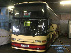 CARDIFF TRANSPORT PRESERVATION GROUP DAF SB2300 JONCKHEERE DEAUVILLE ELZ 2061 ATLANTIC DEPOT 07052017 (MATT WILLIS VIDEO PRODUCTIONS) Tags: cardiff transport preservation group daf sb2300 jonckheere deauville elz 2061 atlantic depot 07052017