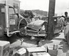 Oakland-Emeryville Border 3275 Hollis Street circa 1958 (Radio Man Mike) Tags: police oakland oaklandpd oaklandpolice opd carcrash collision accident