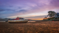 My boat has come in ..... (Einir Wyn Leigh) Tags: landscape seascape love happy boat sunset colours wales light trees cymru water coast sky wet rural nature sunshine sea