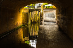Four Locks Bridge (williamrandle) Tags: ramp stourbridgebirminghamcanal canal waterways worcestershire uk england spring 2017 locks gate towpath bridge shadows light reflections nikon d7100 tamron2470f28vc