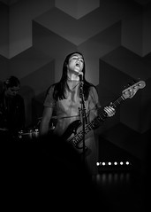 The Beaches At The Waterfall Stage Toronto Canada 2017.05.11 (thelearningcurvedotca) Tags: briancarson canada canadian firstcanadianplace ontario thebeaches thelearningcurvephotography toronto waterfallstage adult artist blackandwhite city cool dark downtown electric entertainer entertainment female foto fun grlband instrument light live monochrome music musician performance performer person photo photograph photography play player playing portrait public scene street urban woman women bwartaward bwmaniacv2 bej blackwhitephotos blackandwhiteonly blogtophoto bwemotions cans2s discoveryphotos iamcanadian noiretblanc torontoist true2bw yourphototips