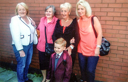 Harris McShane first day at school St Rose of Lima 2012