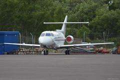 M-ALUN BAe 125 EGHH 5/5/17 (David K- IOM Pics) Tags: m malun bae 125 british aerospace business jet eghh boh bournemouth hurn airport