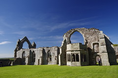 Abbey skeleton... (Sundornvic) Tags: ruins abbey haughmondabbey stone destruction broken arches walls sun shine spring sunshine sky blue countryside heritage