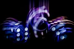 Macro Mondays - Intentional Blur (M1randje) Tags: motionblur purple black intentionalblur macromondays blur motion dice