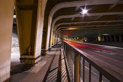 20/52 - After Dark (stopdead2012) Tags: week202017 52weeksthe2017edition weekstartingsundaymay142017 52weeksofphotography dark reading motion bridge railway week20theme