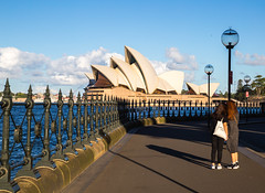 Sydney, Australia - April 7, 2017: Sydney Opera house from the other side of the harbour (AlfonsoFD) Tags: bluesky operahouse harbourbridge 2017 street australia sydney canon women nsw dawespoint newsouthwales au