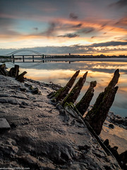 Wigg Islamd (7 of 10) (andyyoung37) Tags: merseyflatbargewrecks runcorn runcornbridge uk wiggisland cheshire rivermersey sunset
