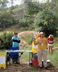 005 Clare Has Announcements (saschmitz_earthlink_net) Tags: 2017 california orienteering losangeles losangelesorienteeringclub laoc griffithpark