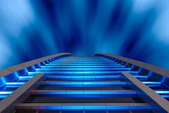 Is this the way to heaven? (Karsten Gieselmann) Tags: 1240mmf28 abudhabi asien blau em5markii etihadtowers farbe gebäude grau mzuiko microfourthirds olympus private reise stadt vae wolkenkratzer blue building city color gray kgiesel m43 mft skyscraper travel