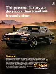 1983 Oldsmobile Toronado (aldenjewell) Tags: 1983 oldsmobile toronado ad