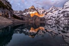 Oeschinensee (MC-80) Tags: oeschinensee kandersteg mountains sunset reflections