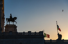 Piazza Venezia, Rome (nat4app) Tags: rome romewithlove sunset sunsetsky sunsetrome sunsetlight travel tramonto travelitaly italy italywithlove colours architecture exploration explorationtown adventure altaredellapatria vittoriano monument monuments flag italyflag sky romantic photography bestphoto photoofday photo