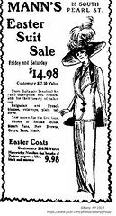 Mann 's women's  clothing store  Easter suit ad  1913  albany ny (albany group archive) Tags: 28 south pearl so