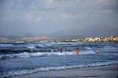 summer moods (JoannaRB2009) Tags: summer sunny beach waves sea landscape seascape nature mediterranean weather mood people hot blue clouds rethymno rethymnon greece greek crete kreta kriti