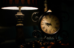 Take the time... (stacypelzl) Tags: takethetime time clock lamp lowlight bedtime smileonsaturday