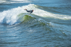 Flying Fish (ReiFLexx) Tags: san diego ocenside surfing waves beach summer watersports sesh ditching flying ocean pier nikon d3 tamron california surf surfer fail jump bailout bail sports