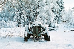 Waiting for spring like... (ericste.in) Tags: ifttt 500px trees forest winter travel old vintage snow norway tractor seasons snowy icy covered visitnorway