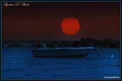 La barca - Maggio-2017 (agostinodascoli) Tags: texture paesaggi landscape mare luna cielo photoshop photopainting agostinodascoli seccagrande ribera nikon nikkor creative colore maggio