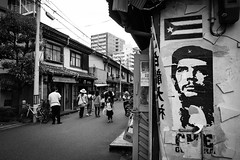 Osaka Downtown (Hiro_A) Tags: osaka japan downtown nakazakicho street bw blackwhite guevara nikon d7200 sigma 1770mm 1770
