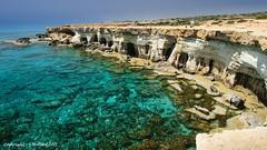 Cape Greco (Holfo) Tags: cyprus capegreco sea ocean coast coastline caves nikon d5300 water mediterranean formation stone cliffs clarity clear rockformation erosion strata shoreline wonderful rock layers layered med fave edge beautiful