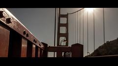 Shepard (Panda1339) Tags: sf 28mm usa summiluxq sanfrancisco architecture goldengatebridge leicaq sunflare red cinematic directsunlight california