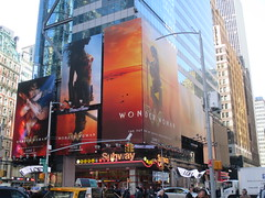 Wonder Woman 42nd Street Billboard DC Comics 5564 (Brechtbug) Tags: wonder woman battle armor times square billboard theater posters 42nd st 7th ave broadway nyc 05082017 movie billboards new york city work working worker paint painting advertisement dc comic comics hero superhero krypton alien dark knight bat adventure book character shield s insignia red blue man for may 2017 sword brunette amazon paradise island mythology myth mythological batman superman jla not linda carter