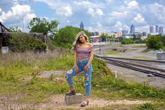 Distance Skyline (Stunnaful-Photography) Tags: stunnafulphotos stunnaful art fashion atl atlanta outdoors woman model canon5dmarkiii blonde