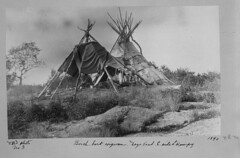 Birchbark Wigwam on Lake Winnipeg, 1890 [LAC] (vintage.winnipeg) Tags: vintage history historic manitoba canada lakewinnipeg