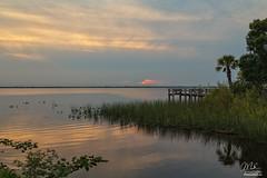 Sunset over Lake Washington (Michael Seeley) Tags: beautiful boat clouds fishing florida lakewashington landscape melbourne michaelseeley mikeseeley sunset water weather