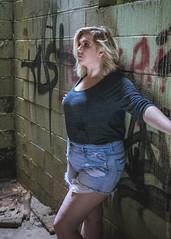 CHEYENNE (Greyson Rose) Tags: model blonde girl woman portrait abandoned urbanexploration urbex graffiti industrial