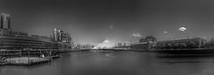 Puente de la Mujer (Buenos Aires, Argebtina. Gustavo Thomas © 2017) (Gustavo Thomas) Tags: puente bridge calatrava river water agua río puertomadero buenosaires ba argentina blackandwhite blancoynegro monochrome monoart bnw southamerica sudamérica