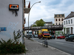 HH-Installations 1894 (cmdpirx) Tags: hamburg germany reclaim your city urban street art streetart artist kuenstler graffiti aerosol spray can paint piece painting drawing colour color farbe spraydose dose marker stift kreide chalk stencil schablone wall wand nikon d7100 installation install cement glue kleber klebstoff tile kachel styrodur styropor vinyl lp cd style guerilla knitting yawn bombing tape inst cutout yarn beste kunst audio cassette kassette