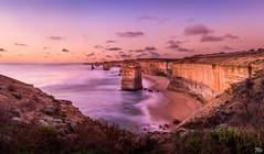 The Apostles at Sunset (mark.iommi) Tags: theapostles 12apostles thegreatoceanroad sunset bluehour australia shoreline seascape longexposure geotaggedthe12apostlesaustralia