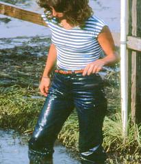 Wet jeans pleasure, 1982 (clarkfred33) Tags: mudbog wetfun jeans wetjeans mud 1982 wetlook denim wetdenim bluejeans splash wetadventure floridafun pleasure spirit sport wam wetandmessy