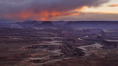 Caution: May Be Habit-Forming (carolina_sky) Tags: canyonlandsnationalpark greenriveroverlook utah grandcanyon sunset moab storms clouds rock river pentaxk1 pentax2470mm pixelshift landscape western