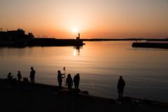 Sunset at a port (kat-taka) Tags: ã¬ãã sunshine shadow sihouette sea fishing holiday water travel japan japanese