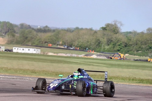 Patrik Pasma in British Formula Four at Thruxton, May 2017