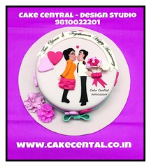 Romance & Love themed Cake  #love #romance #cake # #personalised #customised  #delhi #fondant #themed #delhi #newdelhi #cakecentral #gurgaon #noida #onlineorder #valentine #designercake #delhi #fondant #themed #kiss #kissing #anniversary (Cake Central-Design Studio) Tags: firstbrthday designercake delhi fondant themed kidscake