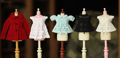 #121 (Ulanna) Tags: blythe knitting handmade outfit clothes cardigan dress crochet blouse lace
