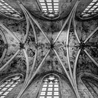 Dominikaner Kirche Maastricht Dach in BW_1 -explore-