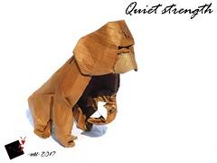 Quiet strenght (-sebl-) Tags: gorilla origami sebl cardboard wetfolding massive quiet strength animal mammals challenge
