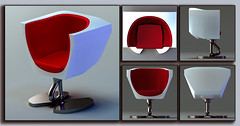 ChairD34f (Ke7dbx) Tags: design furniture productdesign industrialdesign chair chairs red leahter metal white cg cgi 3d modo designer art arts artistic conceptart concept
