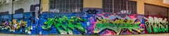 pmbig (pbo31) Tags: bayarea california nikon d810 color may 2017 spring boury pbo31 northerncalifornia sanfrancisco city urban panoramic large stitched panorama blue art night soma washburnstreet mural street marked dark pmbig alley colorful warehouse