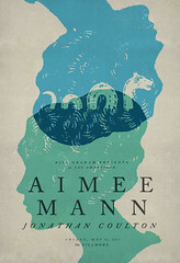 Aimee Mann at The Fillmore (withayou) Tags: aimeemann jonathancoulton poster posterdesign posters design graphicdesign illustration typography type seaserpent thefillmore sf billgraham gigposter gigposters silkscreen screenprint screenprinting