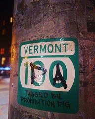 Who is the mysterious Prohibition Pig?!   #vermont #ipa #prohibitionpig #vermont100 (KJGarbutt) Tags: instagramapp square squareformat iphoneography uploaded:by=instagram clarendon